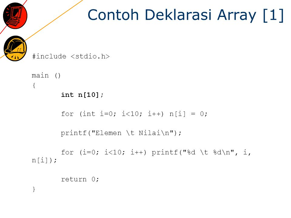 Contoh Deklarasi Array [1]